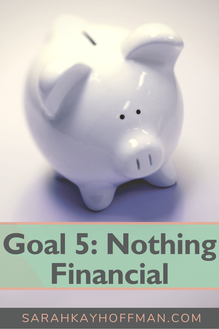 Goal 5 Nothing Financial www.sarahkayhoffman.com #goals #newyear #healthyliving #lifestyleblogger