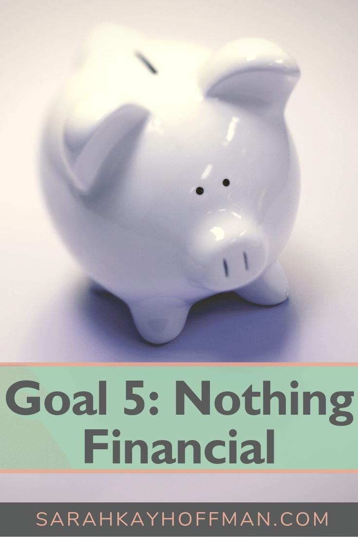 Goal 5 Nothing Financial www.sarahkayhoffman.com #goals #newyear #healthyliving #lifestyleblogger