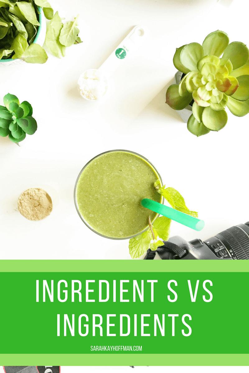 Ingredient s vs Ingredients sarahkayhoffman.com