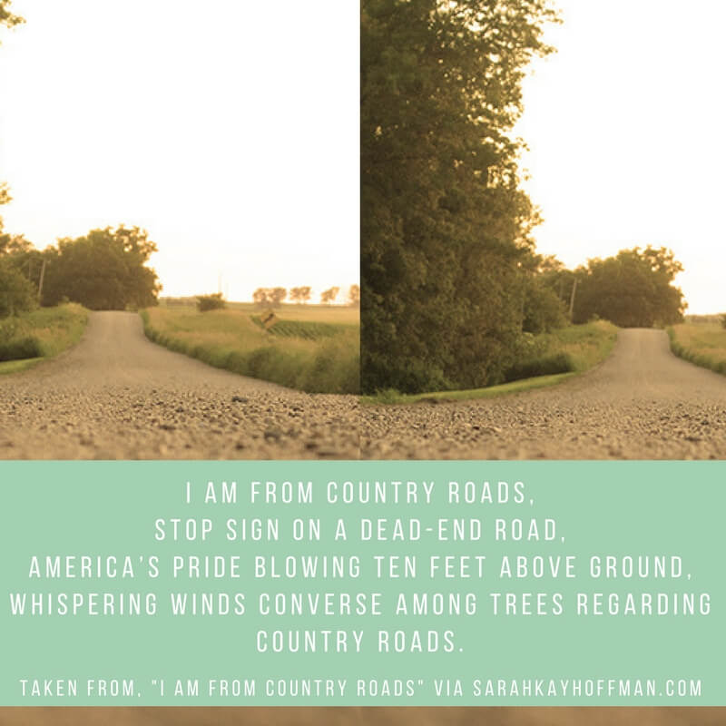 I Am From Country Roads sarahkayhoffman.com