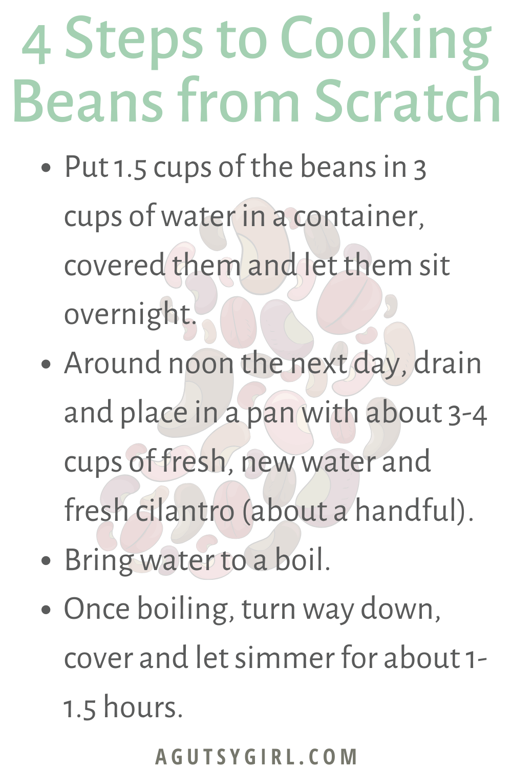 How to Cook Beans from Scratch agutsygirl.com #beans #homecooking #guthealth #fiber