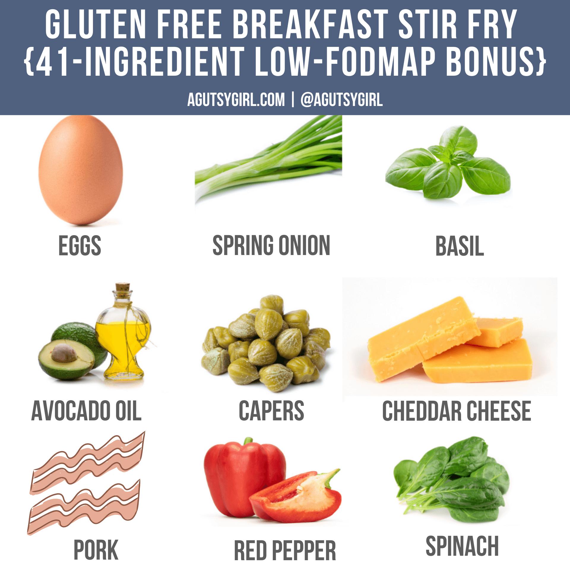 Gluten Free Breakfast Stir Fry Low-FODMAP Bonus agutsygirl.com #breakfastrecipes #sibo #guthealth #glutenfree