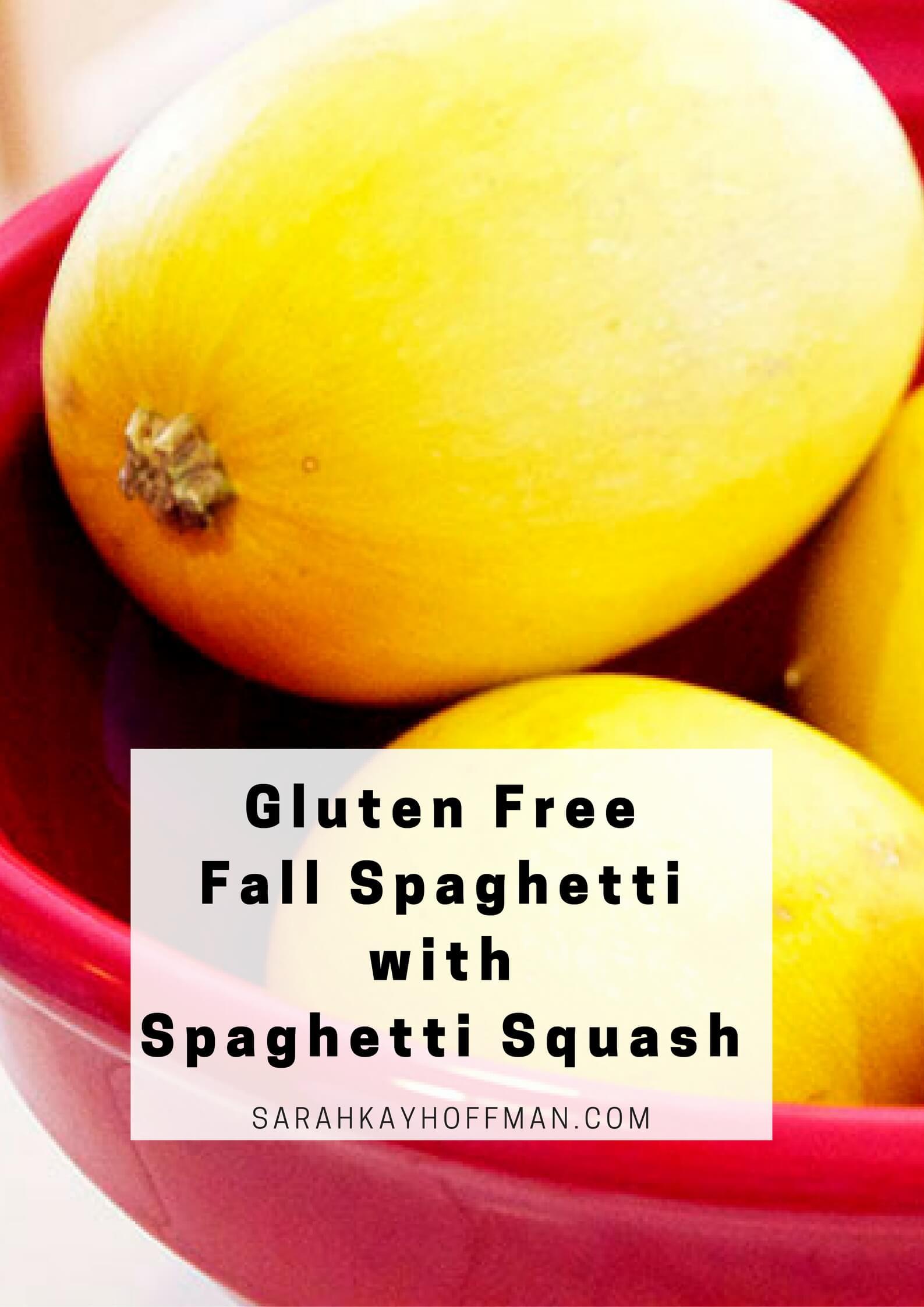 Gluten Free Fall Spaghetti with Spaghetti Squash sarahkayhoffman.com