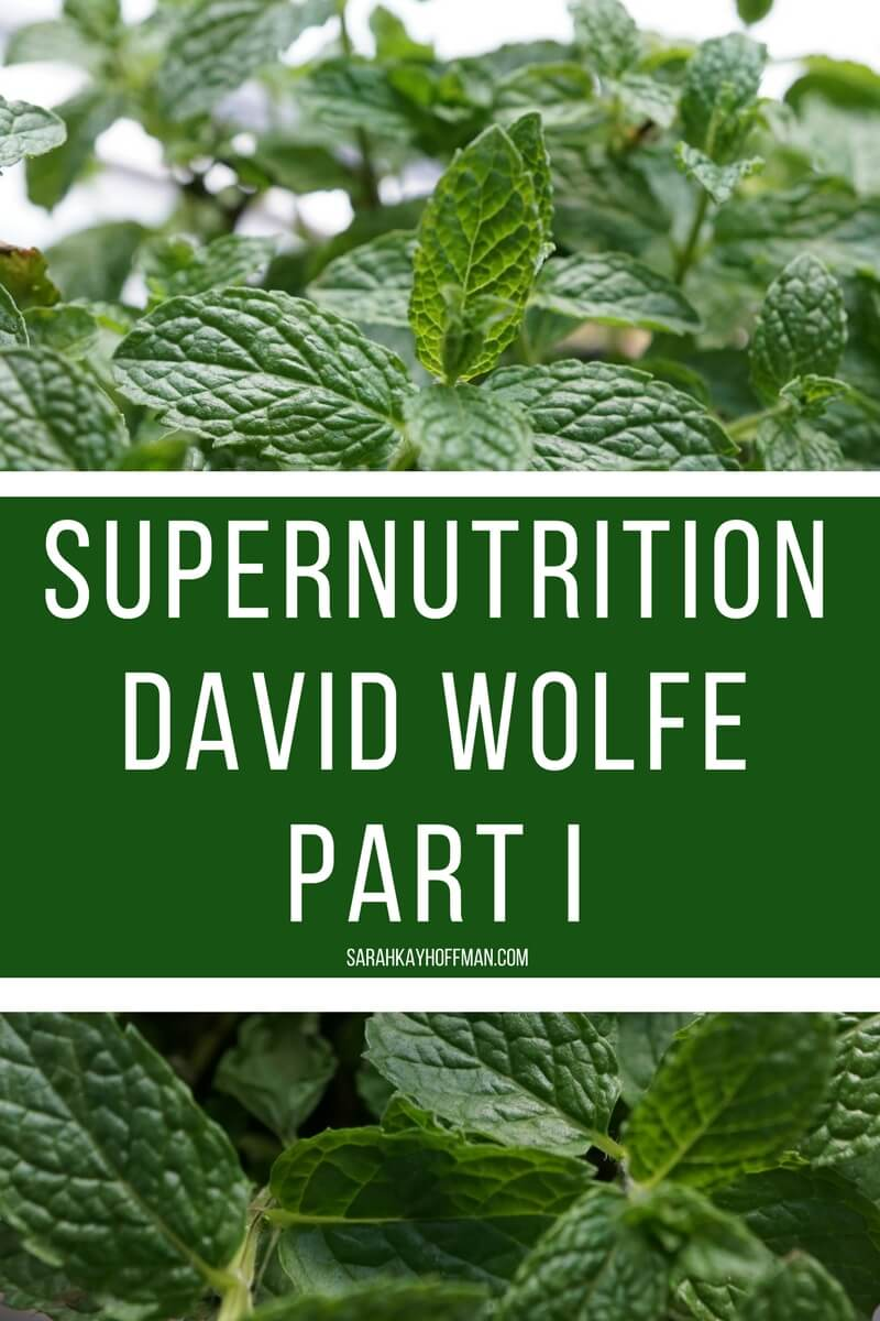 Supernutrition David Wolfe Part I sarahkayhoffman.com Institute for Integrative Nutrition
