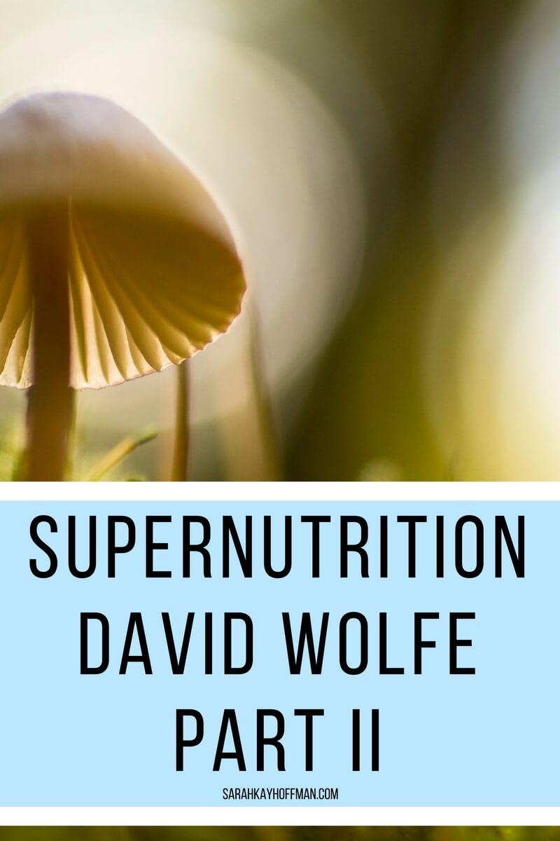 Supernutrition David Wolfe Part II sarahkayhoffman.com mushrooms herbs IIN
