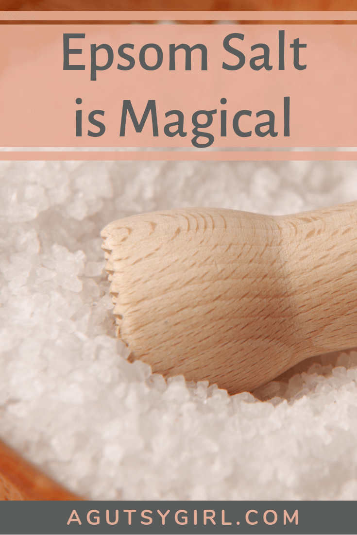 Epsom Salt is Magical agutsygirl.com gut health digestion #guthealing #epsomsalt #stressfree