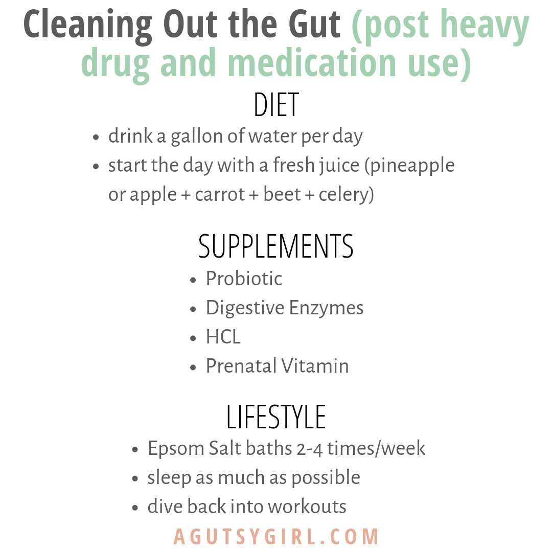 Cleaning Out the Gut Part II Diet, Supplements, Lifestyle agutsygirl.com #guthealth #infertility #healthyliving