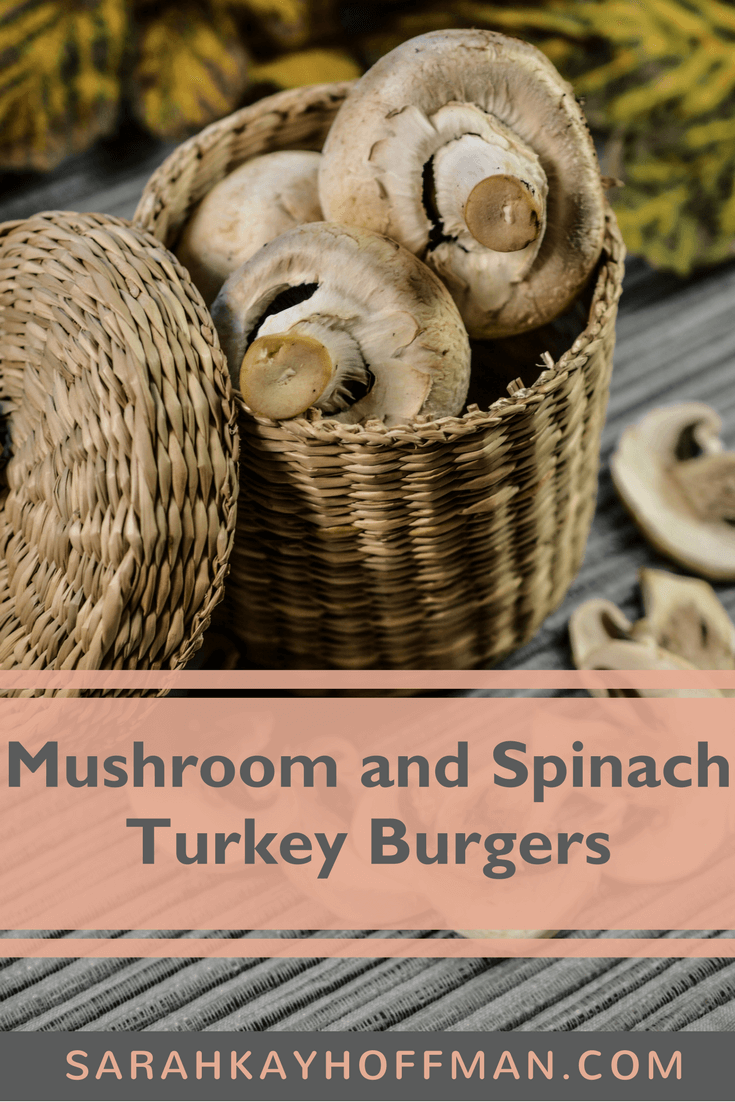 Mushroom and Spinach Turkey Burgers www.sarahkayhoffman.com #paleo #recipe #healthyliving #guthealth