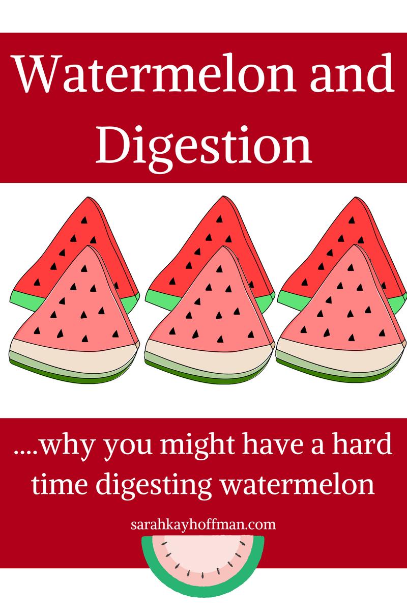 Watermelon and Digestion via sarahkayhoffman.com SIBO fructose FODMAPs