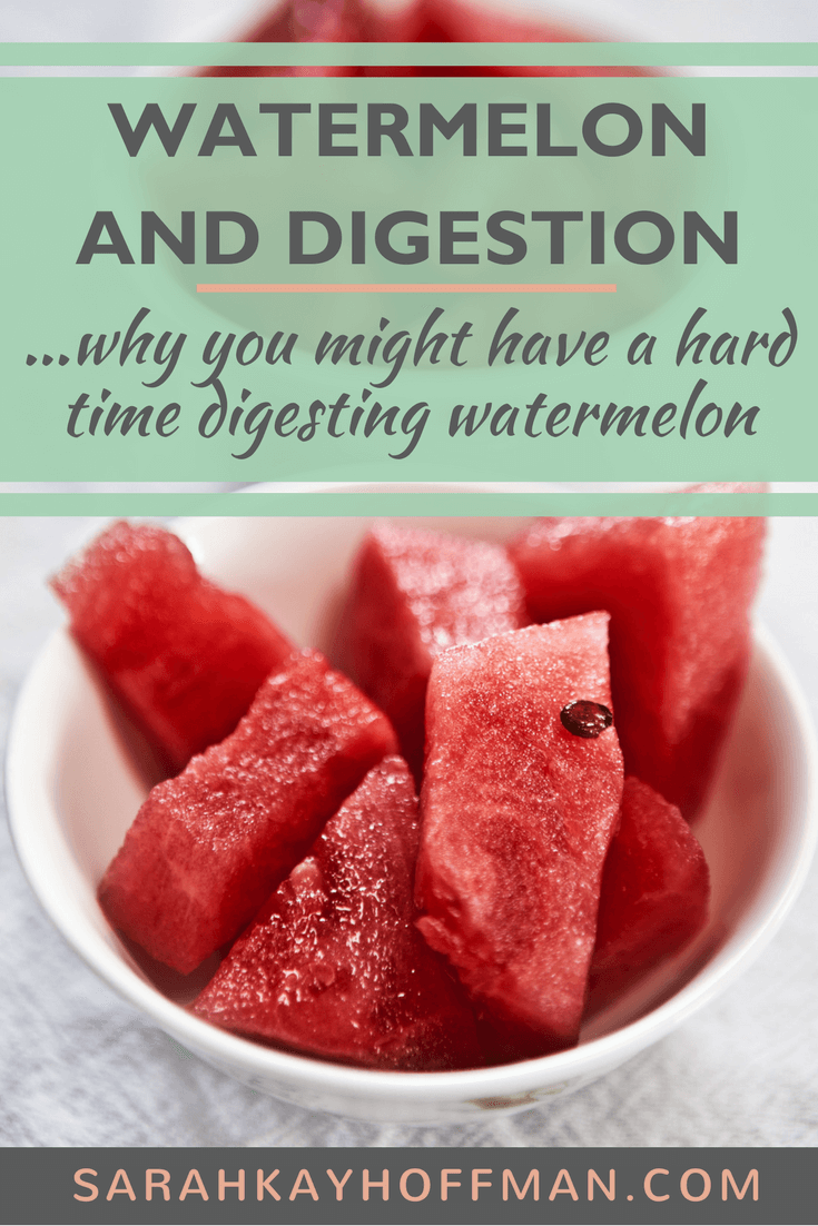 Watermelon and Digestion #SIBO #guthealth #healthyliving #watermelon