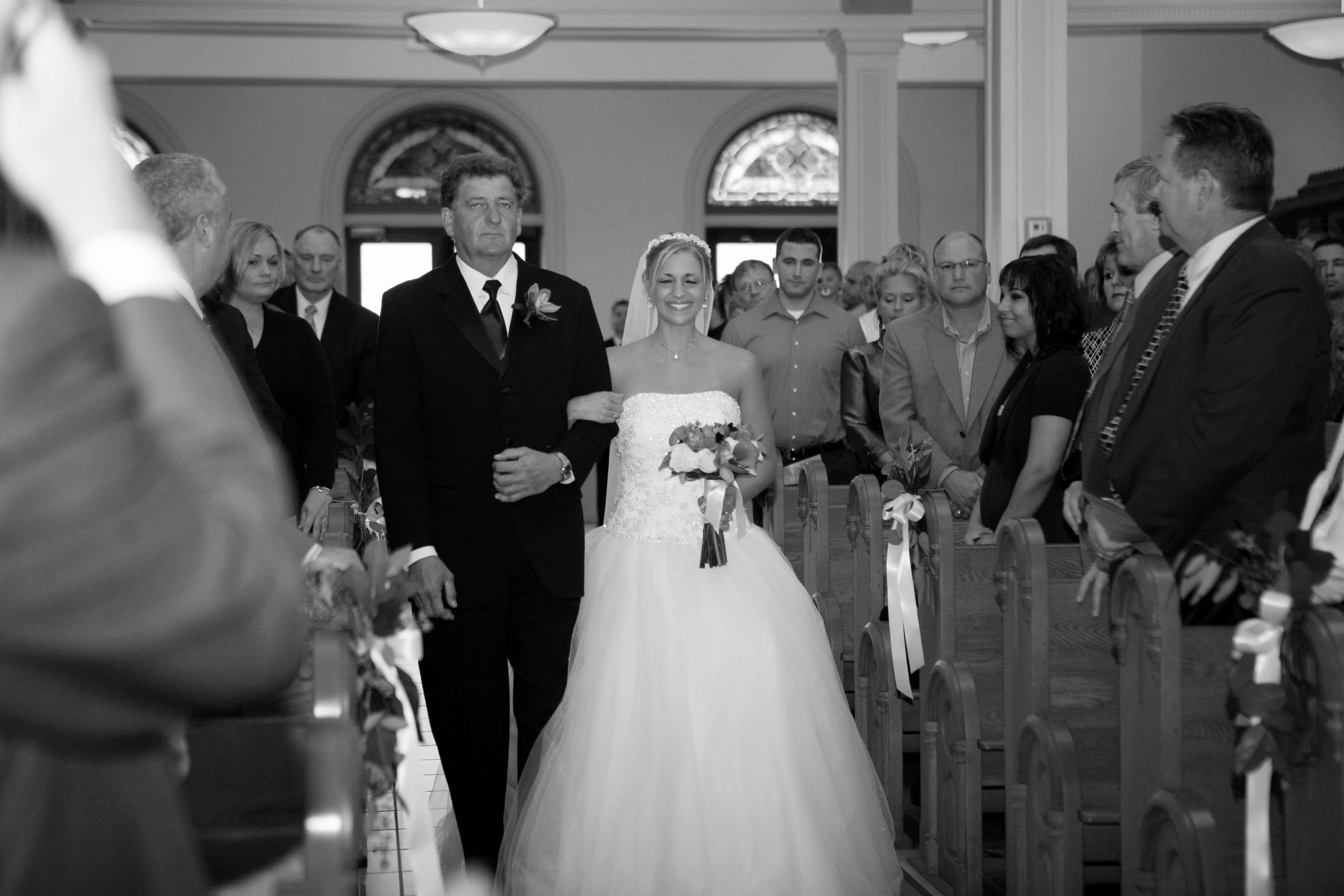 Wedding Aisle with Dad colon cancer stage 4 agutsygirl.com