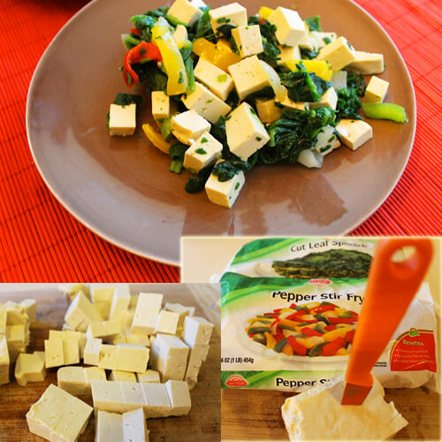 Bright Breakfast Tofu Scramble Collage