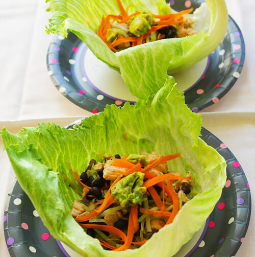 Chicken Cashew Lettuce Wraps
