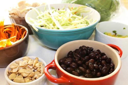 Chicken Cashew Lettuce Wrap Ingredients