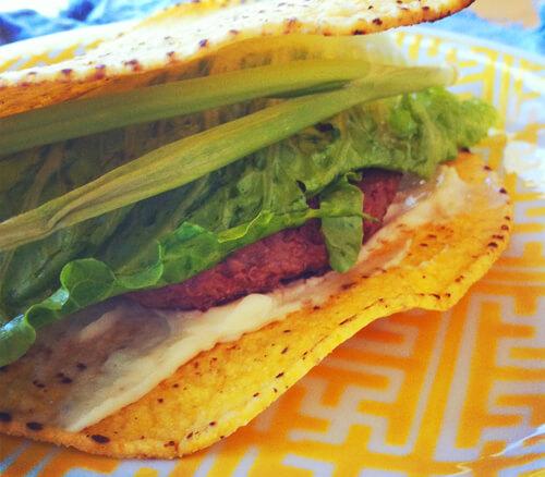Gluten-Free Crunch Burger Closed-Faced