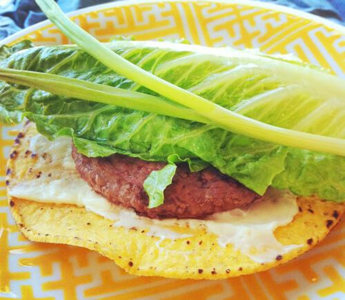 Gluten-Free Crunch Burger Open-Faced