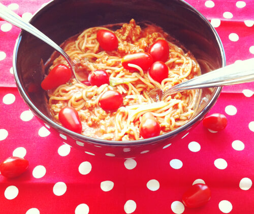 Gluten-Free Turkey Spaghetti