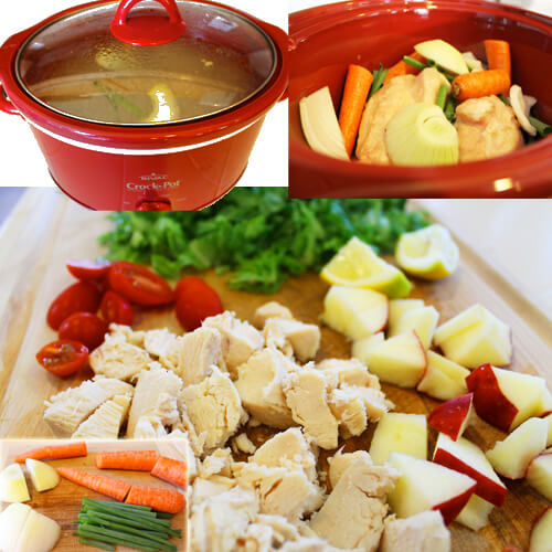 Lunch Prep Collage