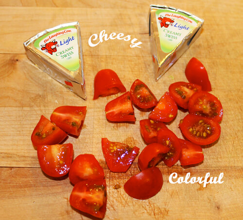 The Laughing Cow Cheese and Tomatoes