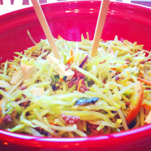 Warm Slaw and Apple Salad Close