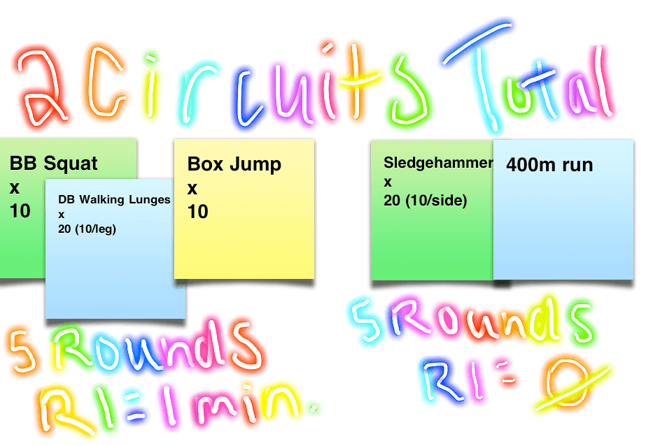 Workout: 2 Circuits, 10 Rounds