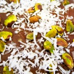 Salted Chocolate Bark with Pistachios & Coconut