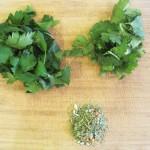 Fresh Herbs for Acorn Stuffed Squash Quinoa & Blue Cheese