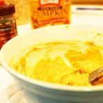 Pumpkin-Spiced Cream Cheese Mixture