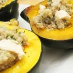 Acorn Stuffed Squash Quinoa & Blue Cheese