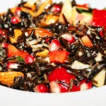 Warm Wild Rice & Pomegranate Salad