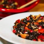 Warm Wild Rice & Pomegranate Salad with Homemade Pomegranate Vinaigrette