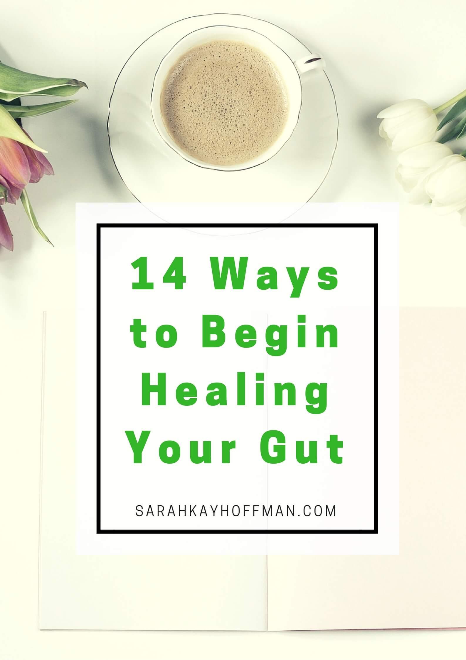 14 Ways to Begin Healing Your Gut sarahkayhoffman.com