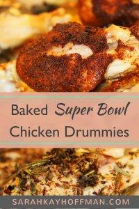Baked Super Bowl Chicken Drummies sarahkayhoffman.com Paleo