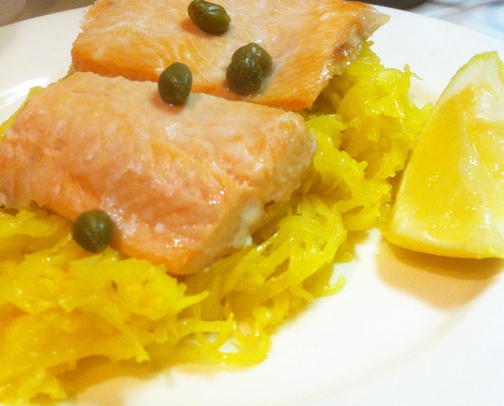Vegan Lemon Lime Cilantro Spaghetti Squash sarahkayhoffman.com