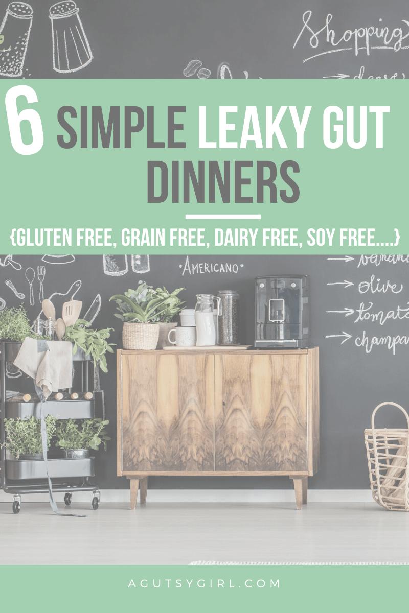 6 Simple Leaky Gut Dinners agutsygirl.com #leakygut #glutenfreerecipe #guthealth