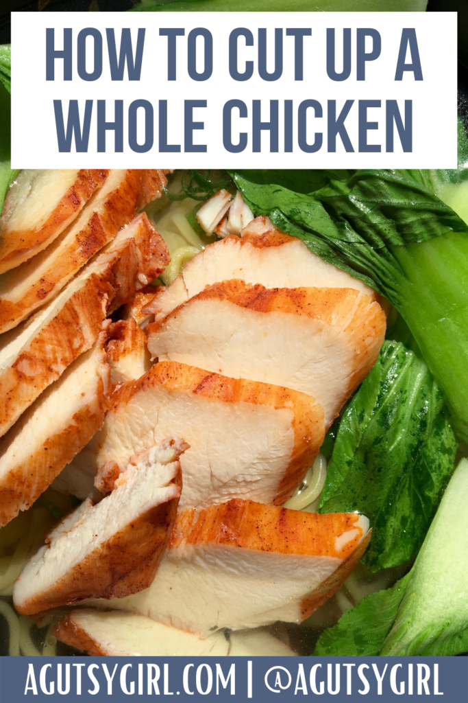 How to Cut Up a Whole Chicken agutsygirl.com #whole30 #wholechicken #guthealth