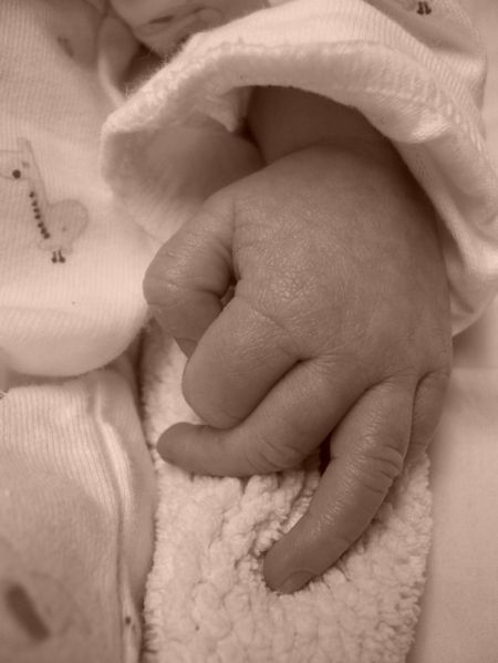 Baby Hand. Infertility. Found via www.agutsygirl.com National Infertility Awareness Week and Month