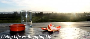 Living Life vs. Blogging Life