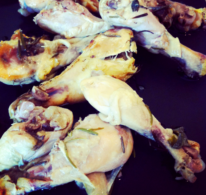 Slow-Cooked Rosemary-Sage Chicken Legs
