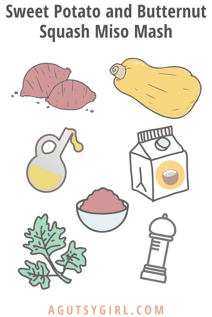 Sweet Potato and Butternut Squash Miso Mash agutsygirl.com #miso #sweetpotatoes #fermentedfoods #guthealth