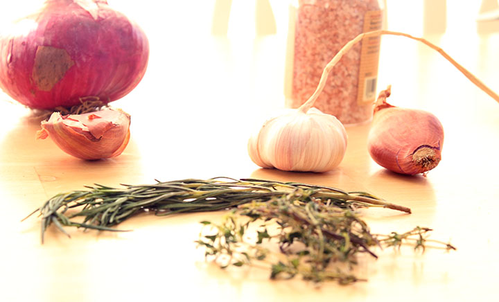 Ingredients for Organic Beef Burgers with Carmelized Shallots recipe www.agutsygirl.com #July4