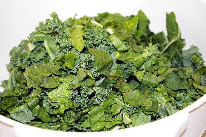 Swiss Chard + Kale recipe #gfree www.agutsygirl.com