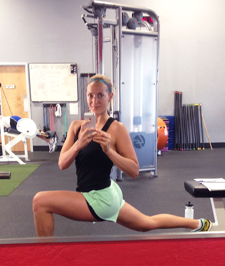 Efficient Travel Workouts foam rolling and stretching via www.agutsygirl.com Soldier of Steel