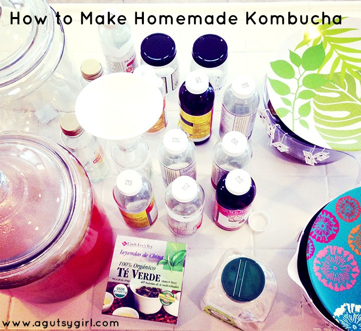 How to Make Homemade Kombucha www.agutsygirl.com