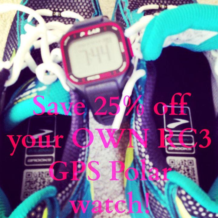 Polar RC3 GPS save 25% through Aug 31, 2013 via www.agutsygirl.com