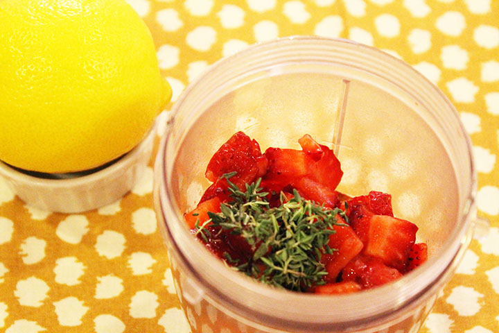 Strawberry and Thyme Slow Cooked Spaghetti Squash via www.agutsygirl.com