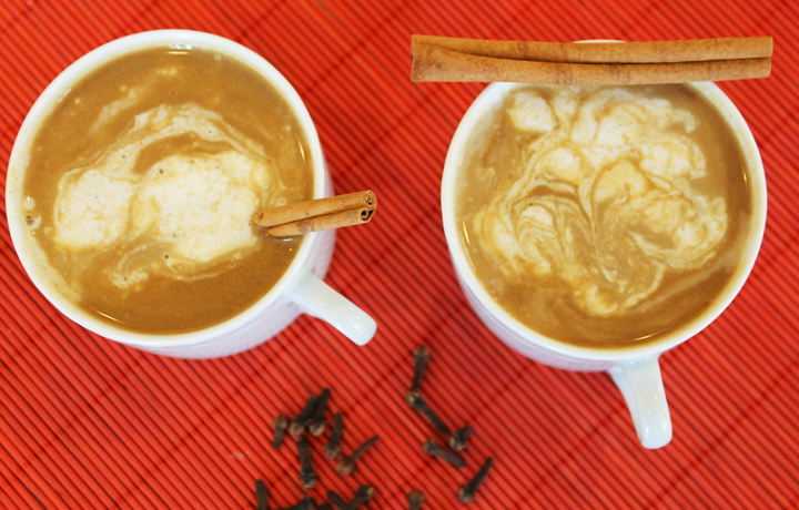 Pumpkin Spiced Latte {gluten, grain, dairy, soy free} how to make your own via www.agutsygirl.com
