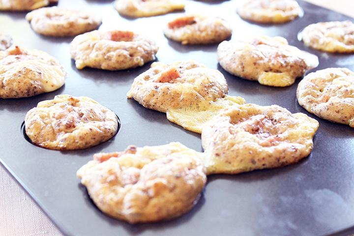 Baked! 4-Ingredient Mini Breakfast Poppers via www.agutsygirl.com
