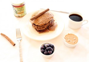 Sea Salted Cinnamon Almond Butter Pancakes {gluten, grain, dairy free}