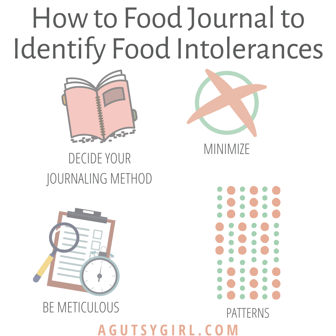 How to Food Journal to Identify Intolerances gut health agutsygirl.com #guthealth #journal #healthyliving